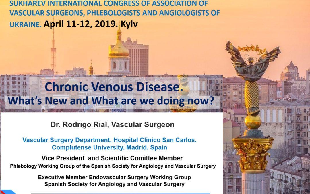 El Dr. Rial en el Congreso Nacional de Cirugía Vascular de Ucrania