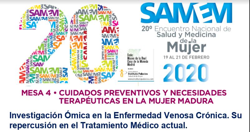 El Dr.Rodrigo Rial participa en el 20º Congreso Nacional de Salud y Medicina de la Mujer.  SAMEM 2020