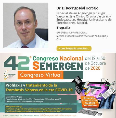 Ponencia del Dr. Rodrigo Rial sobre ETEV en la Era COVID-19.
