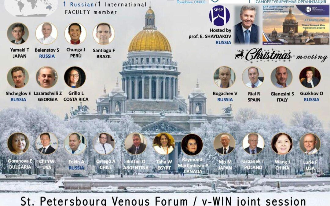 El Dr. Rodrigo Rial organiza el evento Internacional St. Petesbourg Venous Forum