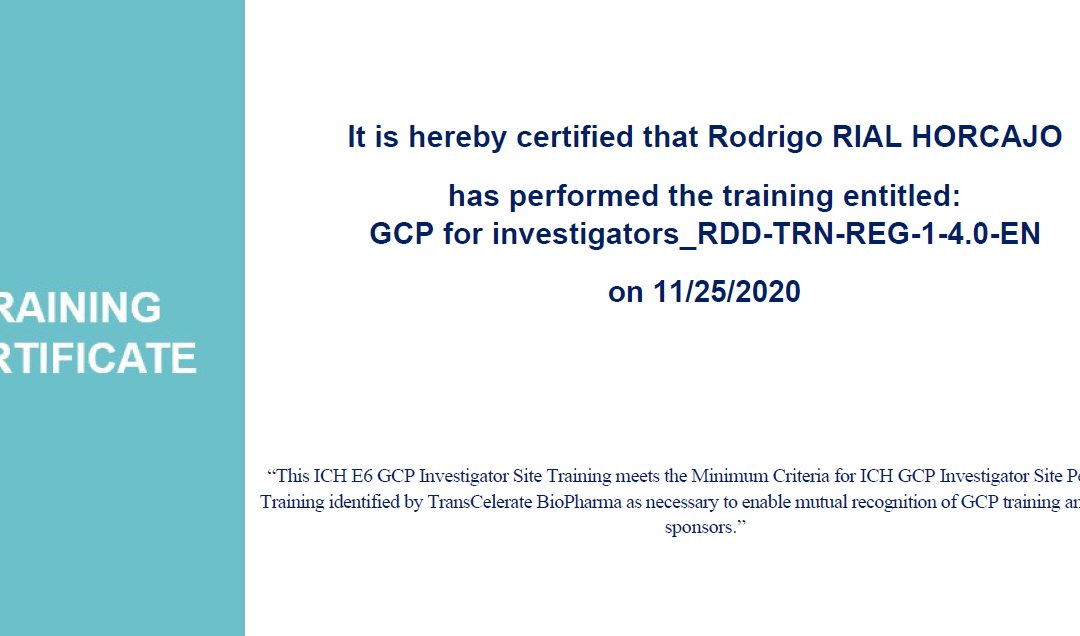 Certificación ICH E6 GCP