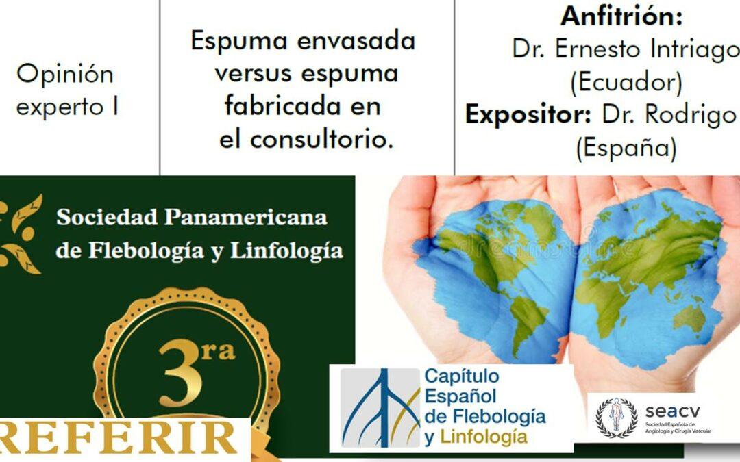 Ponencia del Dr. Rodrigo Rial en la 3ª Jornada del Programa de Educación Flebotónica de la Sociedad Panoamericana de Flebología y Linfología.