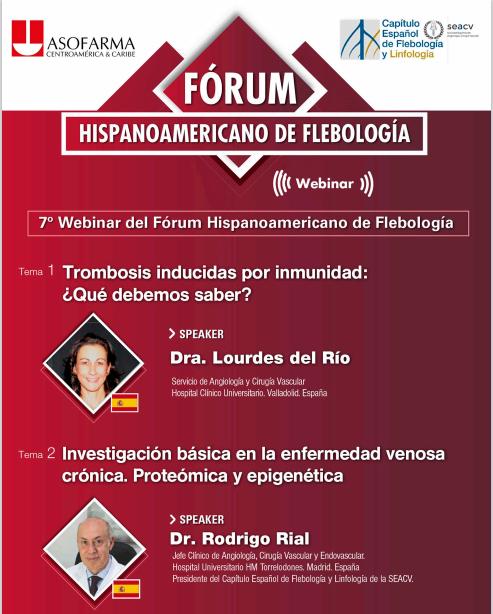 7ª Webinar del Fórum Hispanoamericano de Flebología.