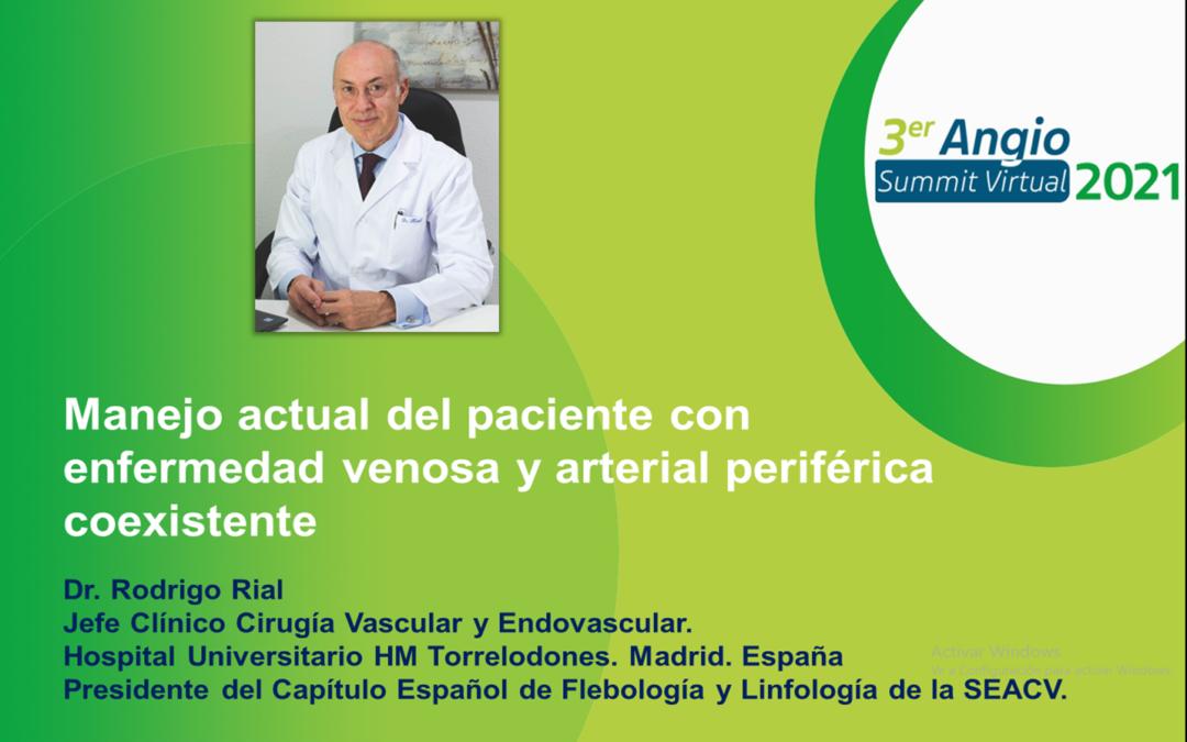 El Dr. Rodrigo Rial invitado al 3º AngioSummit virtual internacional que tendrá lugar dentro de el Congreso de la Sociedad Mexicana de Cirugía Vascular.